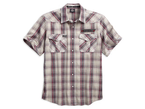 Harley-Davidson H-D v-twin plaid shirt men's
