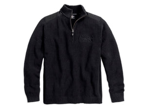 Harley-Davidson sweater-heavyweight, acid wash men's black