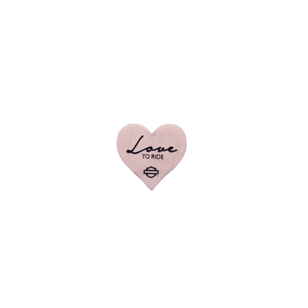 HARLEY-DAVIDSON PINK LOVE TO RIDE HEART PLATE