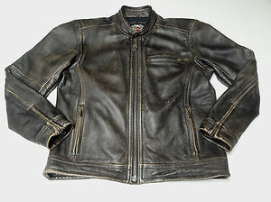 Harley-Davidson steadfast leather jacket men's brown