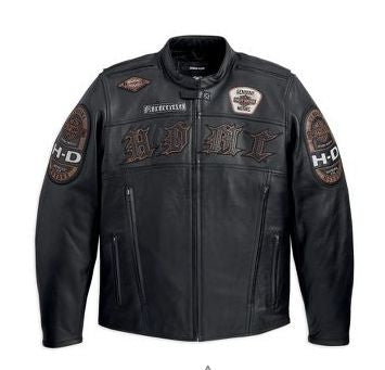 Harley-Davidson jacket-moto, lthr, tall men's black