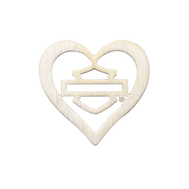 HARLEY-DAVIDSON GOLD OUTLINE B&S HEART PLATE