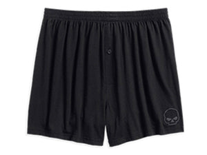 Harley-Davidson boxer short-knit, skull men's black