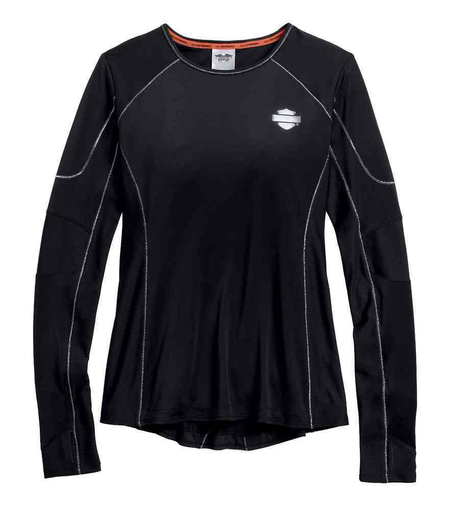 Harley-Davidson performance vented long sleeve tee women's black