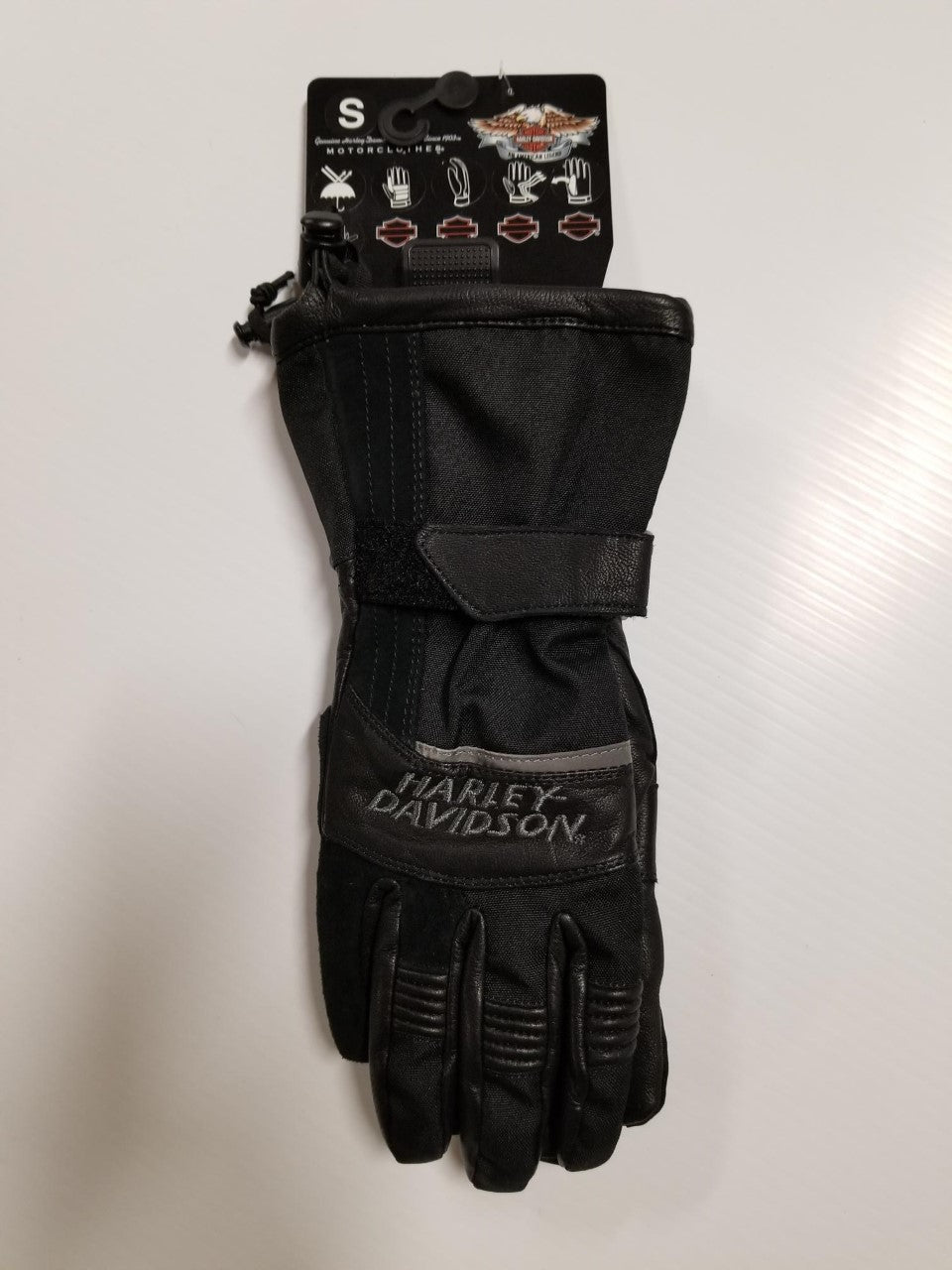 Harley-Davidson glove-rampart,gauntlet feb del/mans black