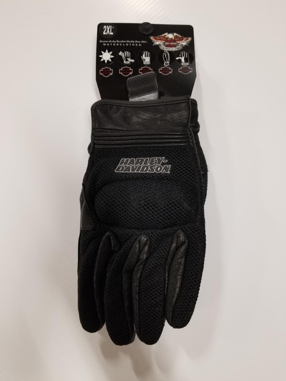 Harley-Davidson backstretch F/finger mesh glove men's