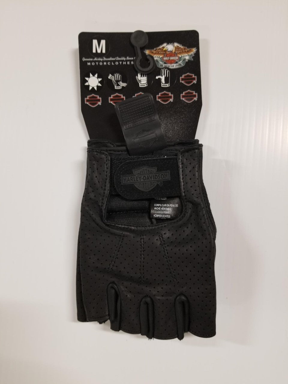 Harley-Davidson glove-open tip perforated