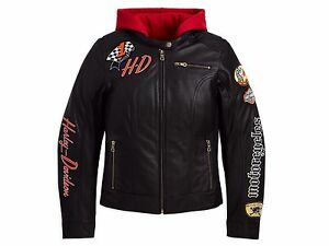Harley-Davidson jayride 3 in 1 leather jacket women's black