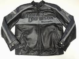 Harley-Davidson back in black leather jacket men's colorblocked