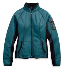 Harley-Davidson province mid-layer jacket women's deep teal