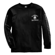 Harley-Davidson knit-L/S, skull, black men's