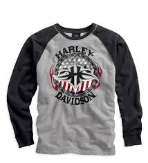 Harley-Davidson knit-BL, L/S dks men's dark shadow