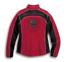 Harley-Davidson scroll skull windproof women's red
