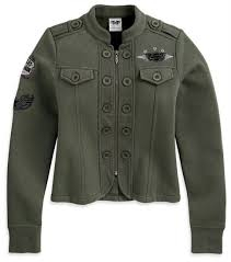 Harley-Davidson military activewear jacket 3QA women's classic olive