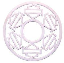 HARLEY-DAVIDSON PINK OUTLINE MULTIPLE B&S PLATE