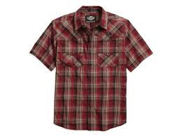 Harley-Davidson plaid short sleeve shirt men's