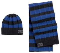 Harley-Davidson knit set-striped, prt women's blue