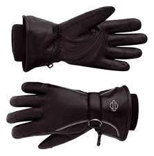 Harley-Davidson windshielder F-F lthr gloves women's black