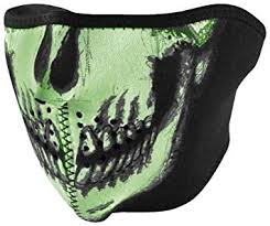Zan neoprene half mask glow in the dark 1/2 masque crane fluo