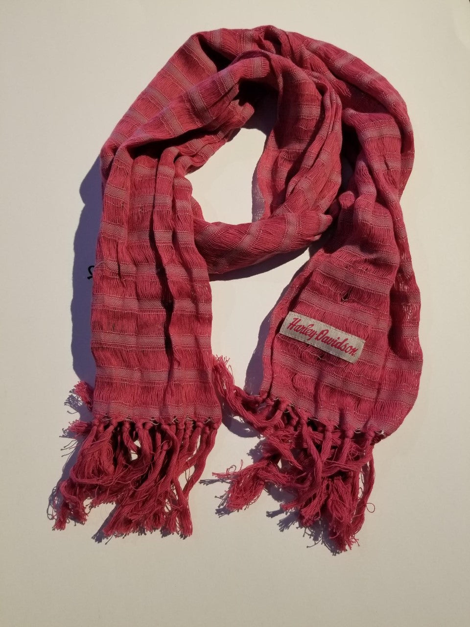 Harley-Davidson scarf-striped women's berry