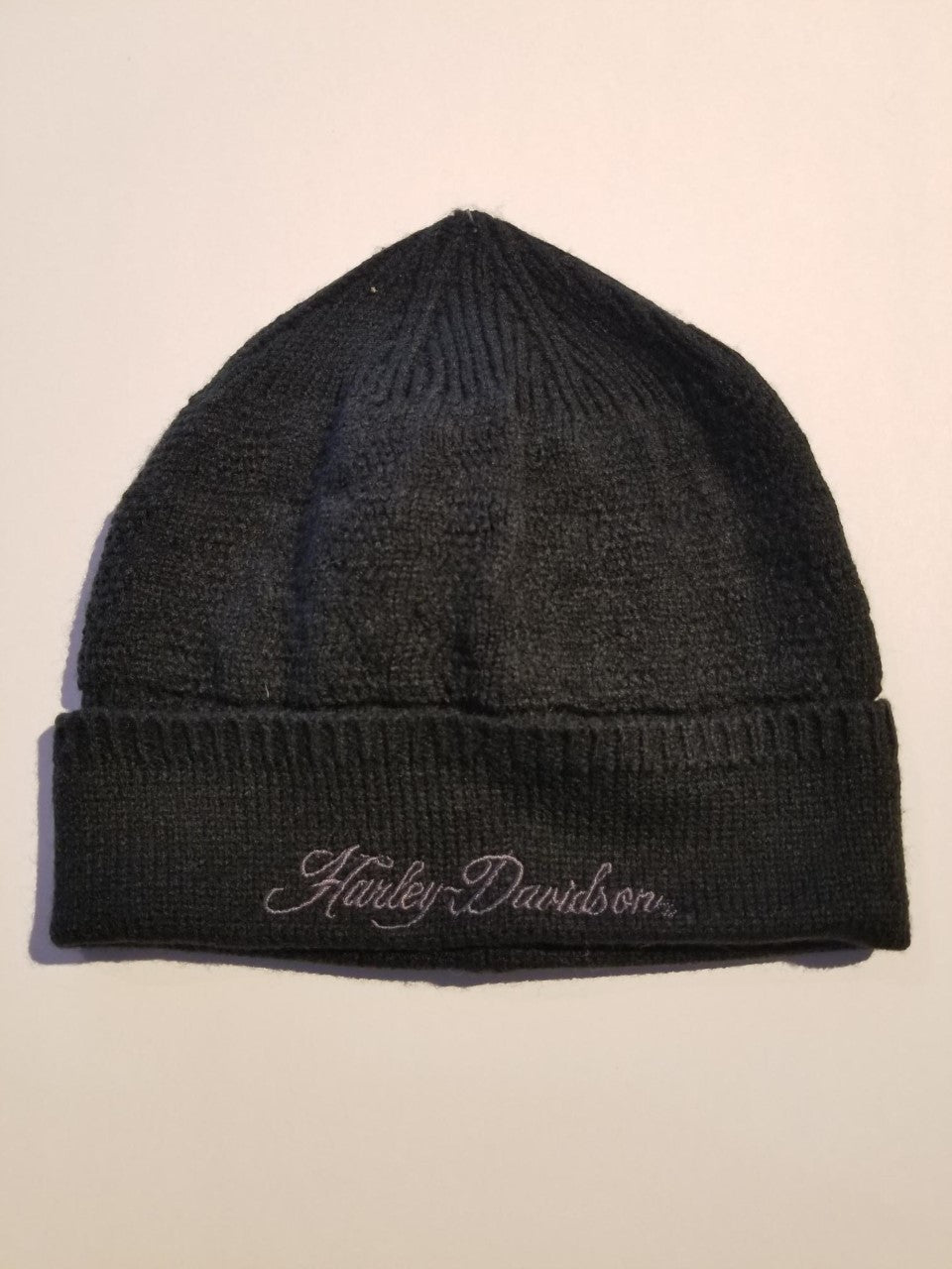 Harley-Davidson knit hat, cuffed nov del/women's black
