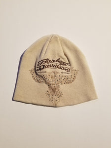 Harley-Davidson cap-knit, stupped eagle women's off white
