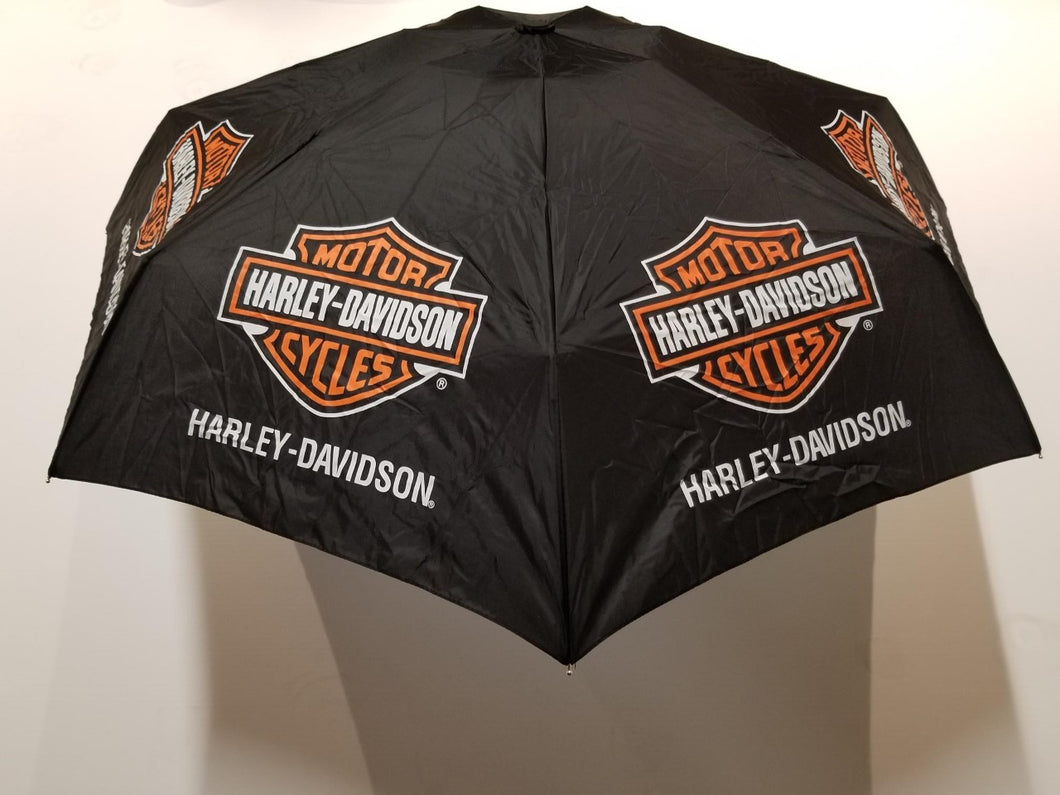 Harley-Davidson umbrella, ultra mini & retractable, bar & shield black