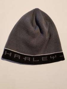 Harley-Davidson hat-knit stripped, font men's grey/black
