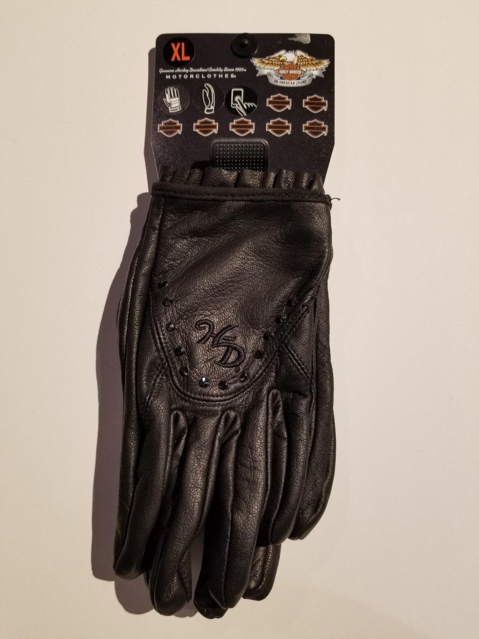 Harley-Davidson glove-F/F, lea, radiant feb del/women's black