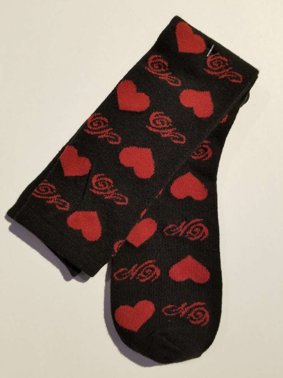 Harley-Davidson socks allover heart print women's black