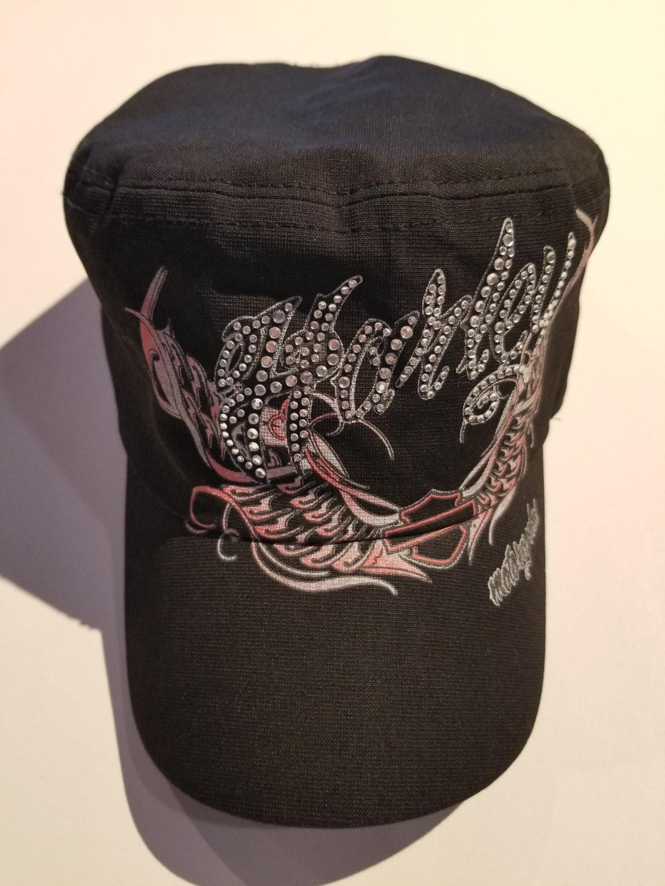 Harley-Davidson flat top W/embellished graphic women's black