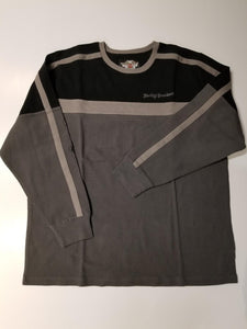 Harley-Davidson colorblocked L/S knit shirt men's