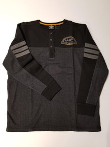 Harley-Davidson knit-henlay, clr block nov del/men's black