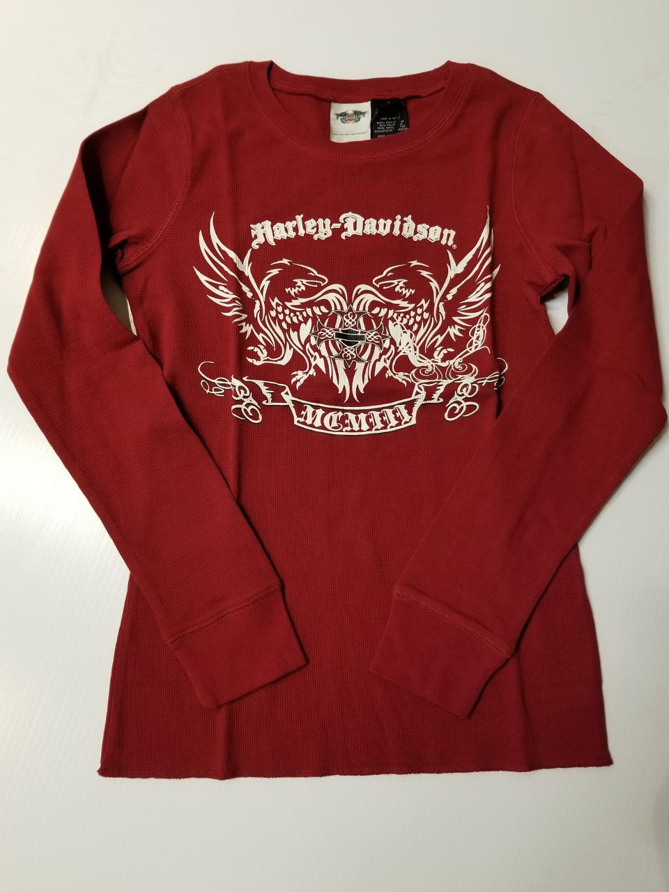 Harley-Davidson L/S thermal sleep shirt women's biking red