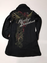 Harley-Davidson knit-L/S zip front feb del women's black