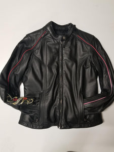 Harley-Davidson crimson leather jacket switchba women's