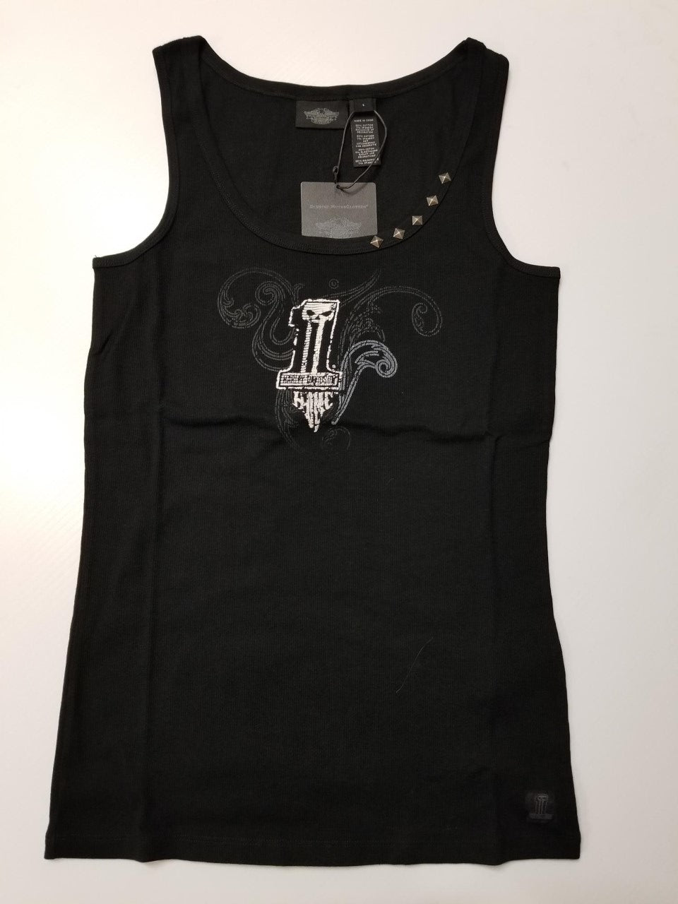 Harley-Davidson flocked tank women's black