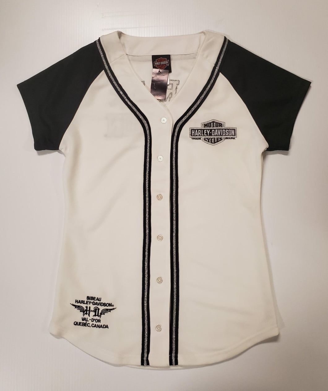 Harley-Davidson without a break SS baseball jersey