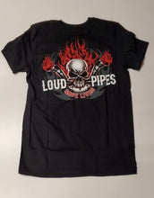 Lethal Threat tee loud pipes save bk