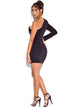 Skye Crepe Tuxedo Blazer Dress - Restocked