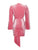Forever Yours Pink Velvet Long Sleeve Draped Dress