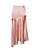 Just Peachy High Slit Satin Skirt