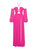 Aliyah Hot Pink Side Slit Maxi Dress with High Waist Briefs