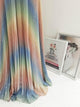 Pixie Rainbow Pleated Maxi Gown