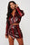 Adeline Burgundy Vegan Leather Snakeskin Skirt Set