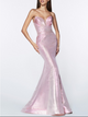 Laurie Fitted Strapless Iridescent Gown