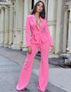 Manhattan Pink Tailored Blazer with Waist Belt
