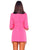 Elle Hot Pink Self Tie  Belt Blazer Dress - RESTOCKED*