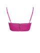 Neon Pink Stretch Mesh Top With Center Ring
