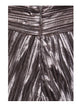 Lusiana High Waist Metallic Pleated Silver Trousers